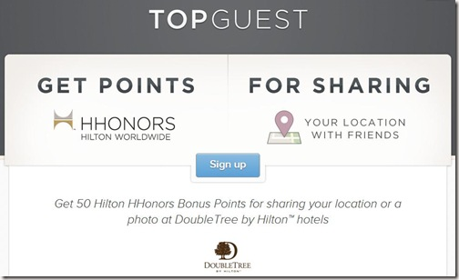 HIlton Top Guest Account Page