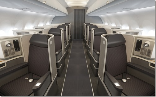 American Airlines A321Transcon First Class Front