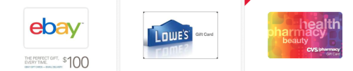 eBay Hot Deals On Gift Cards And 5x Ebay Bucks!