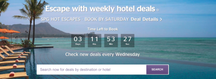 Save Up To 43% SPG Hot Escapes